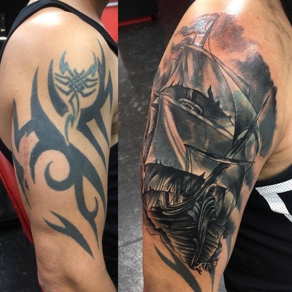 Pin By Andre Youhana On Cover Up Tattoos Tribal Tattoo Cover Up Cover Up Tattoos Big Cover Up Tattoos