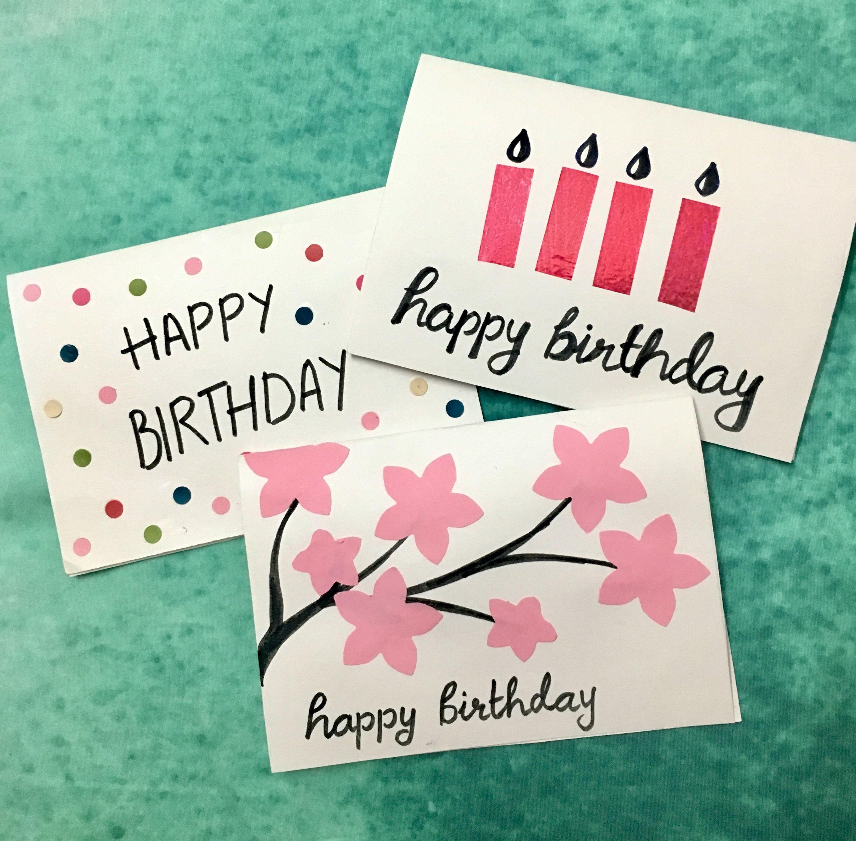 3 Easy 5 Minute Diy Birthday Greeting Cards Birthday Cards Diy