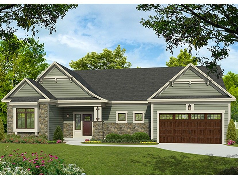Eplans ranch house plan craftsman style ranch 1744 square feet and 3 bedrooms from