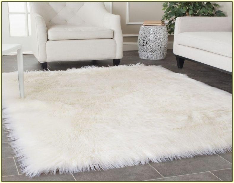 Ivory Faux Fur Rug
