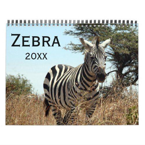 Zebra 2020 Calendar Zazzle Com Zebra Customizable Calendar Calendar