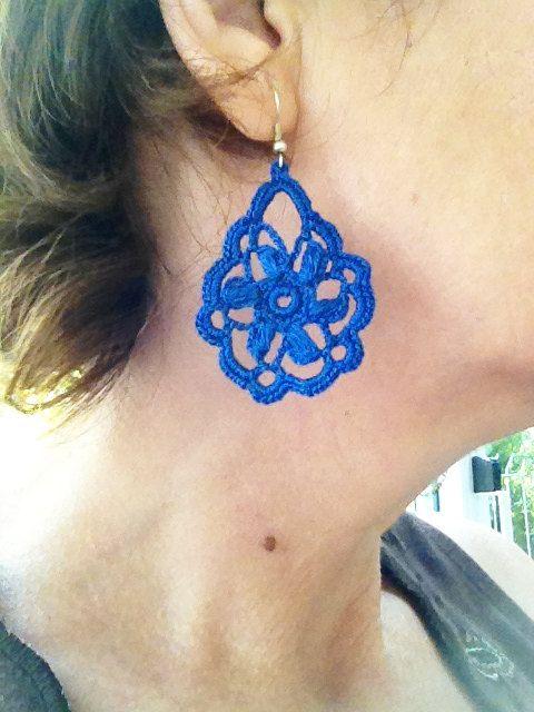 PDF Tutorial Crochet Pattern...Dangle Earrings -15 | Patrón de ...