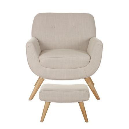 Skandi Natural Armchair And Footstool | Dunelm