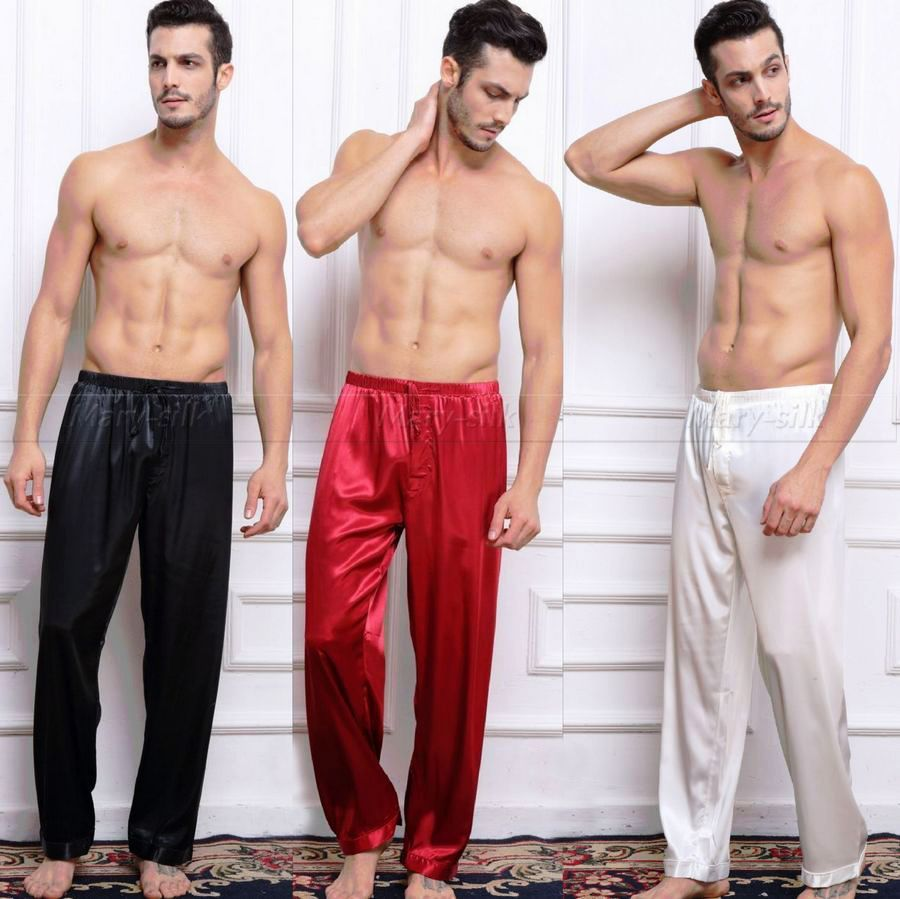 Hot sale luxury silk pajama sets for men