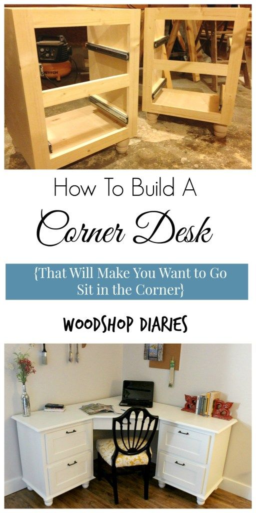 a corner i wouldn 39 t mind being sent to diy corner desk selbermachen und m bel. Black Bedroom Furniture Sets. Home Design Ideas