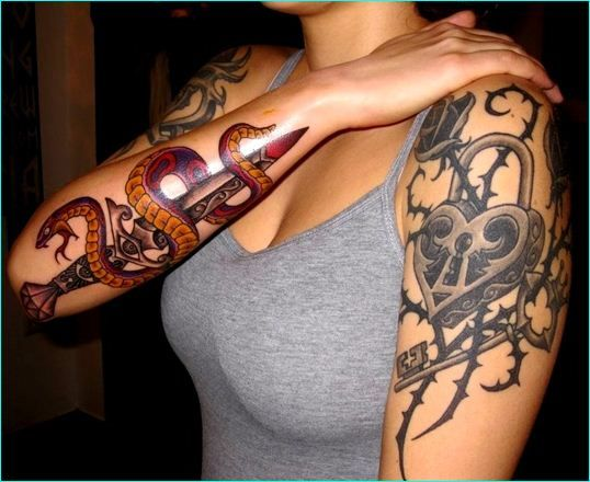 Pin On Most Exotic Snake Tattoos Designs