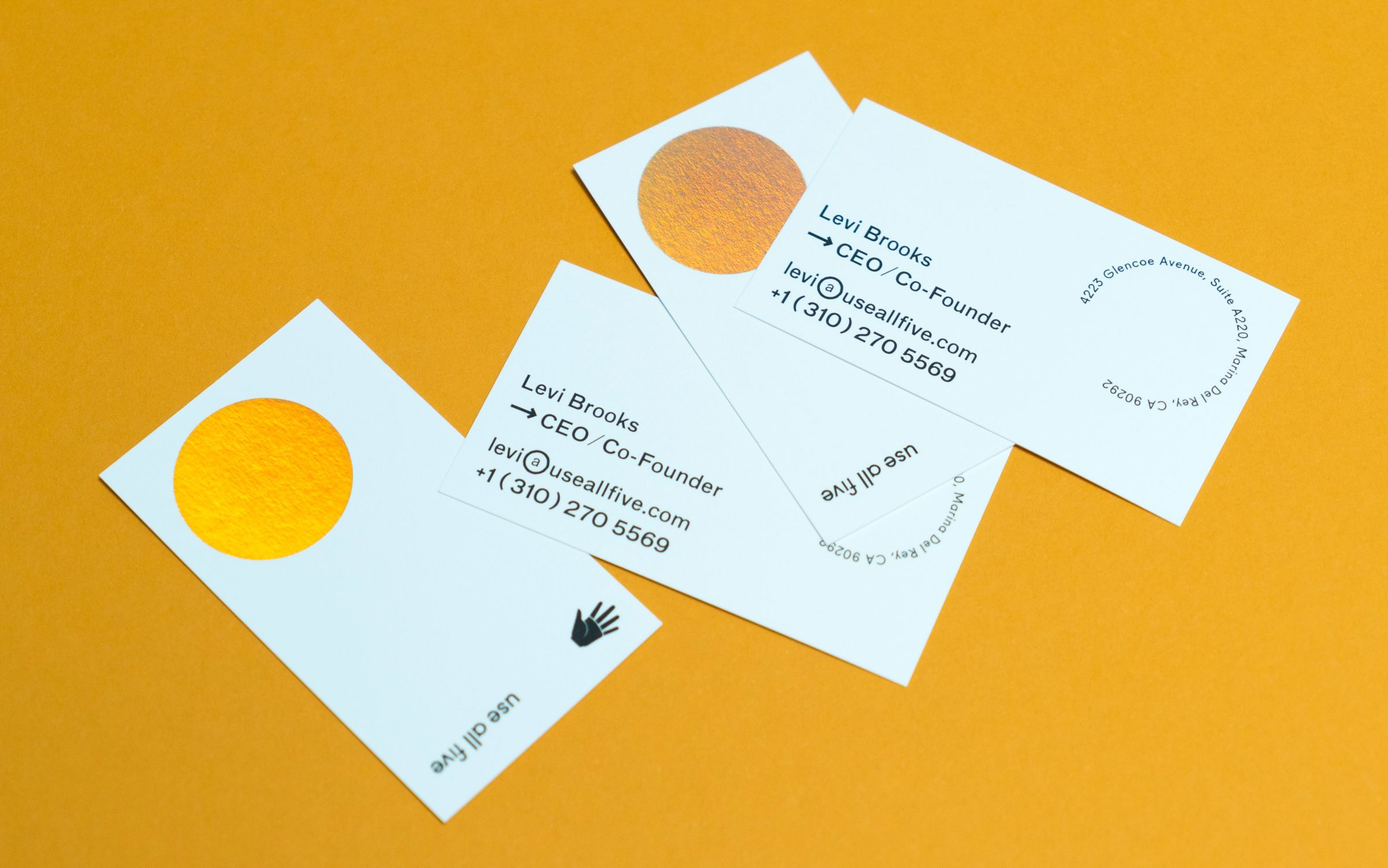 business cards for los angeles design studio use all five the