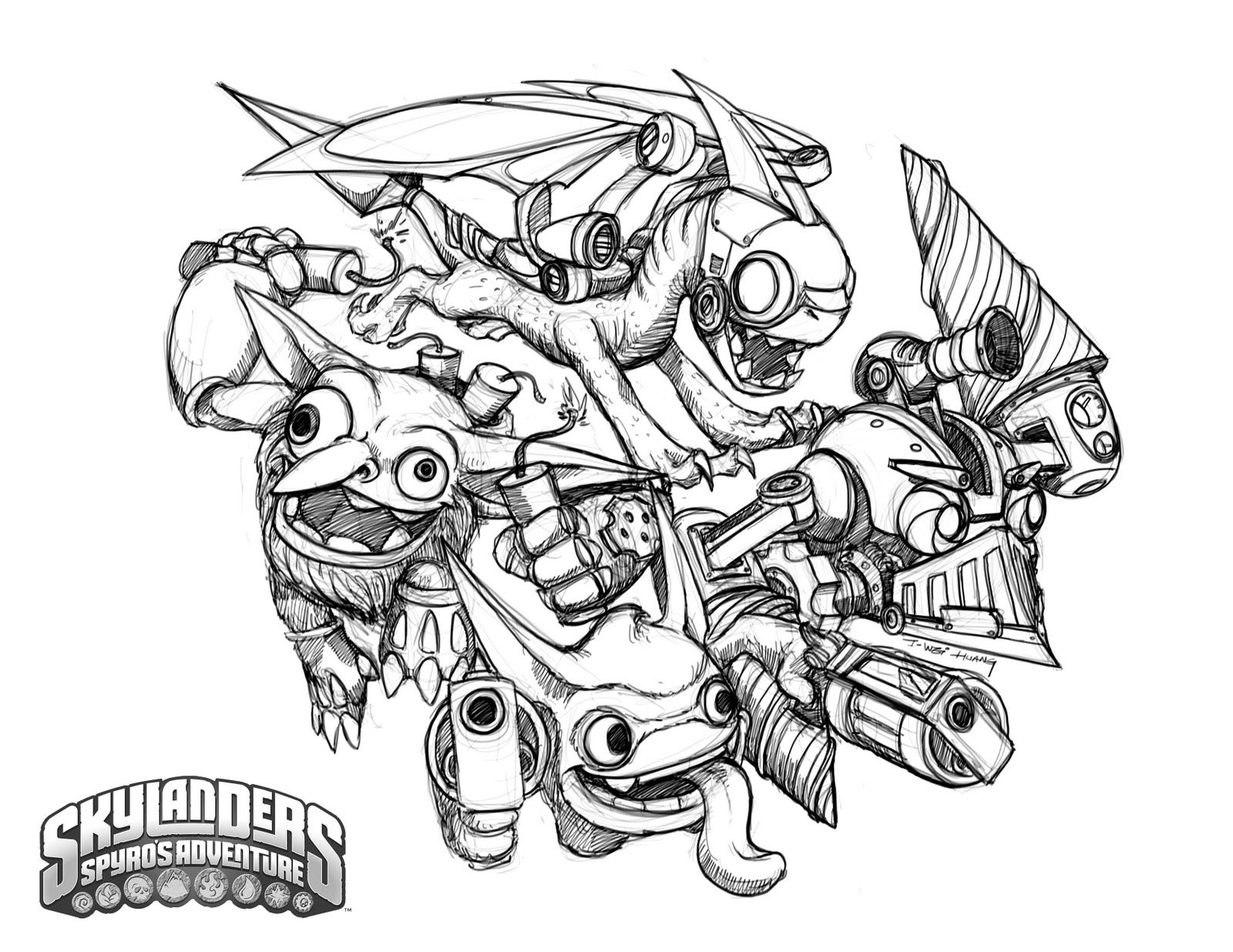 skylanders coloring page95555555 jack u0027s skylander u0027s party