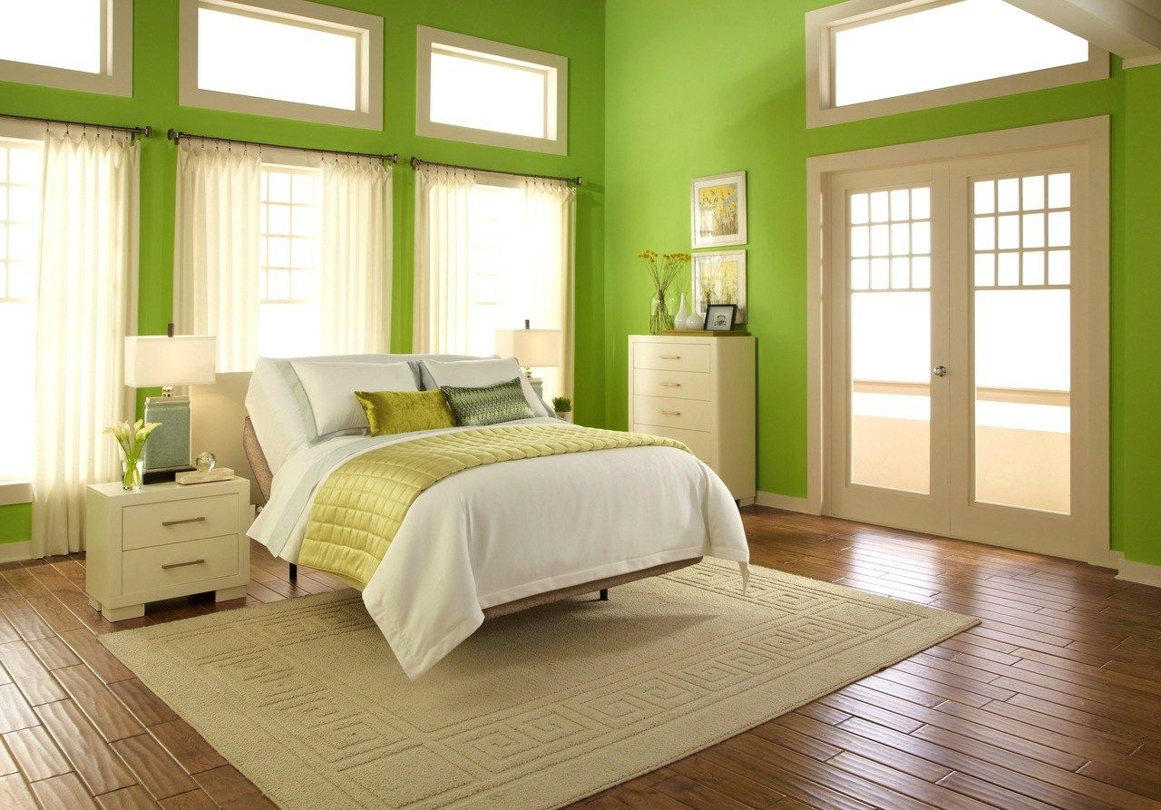 Room Painting with Sage Green Color - Ward Log Homes | Interior ...