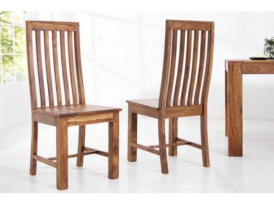 Chaise en bois massif sheesham Makassar Makassar