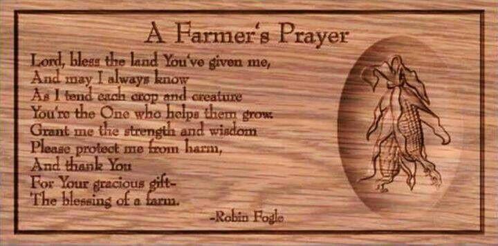 A farmer's prayer