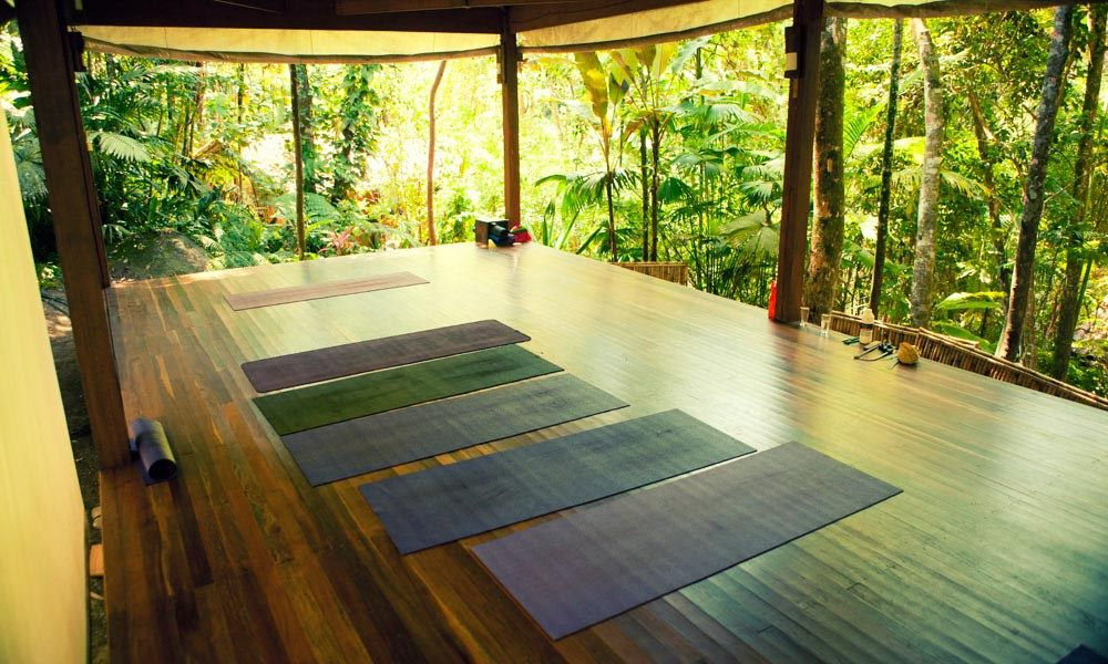 Image result for wooden yoga platform | Bohemian house, Yoga room ...