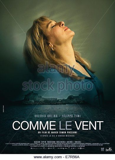 Come il Vento Like the Wind Year : 2013 France / Italie Director : Marco S. Puccioni Valeria Golino  Movie poster (Fr) - Stock Image