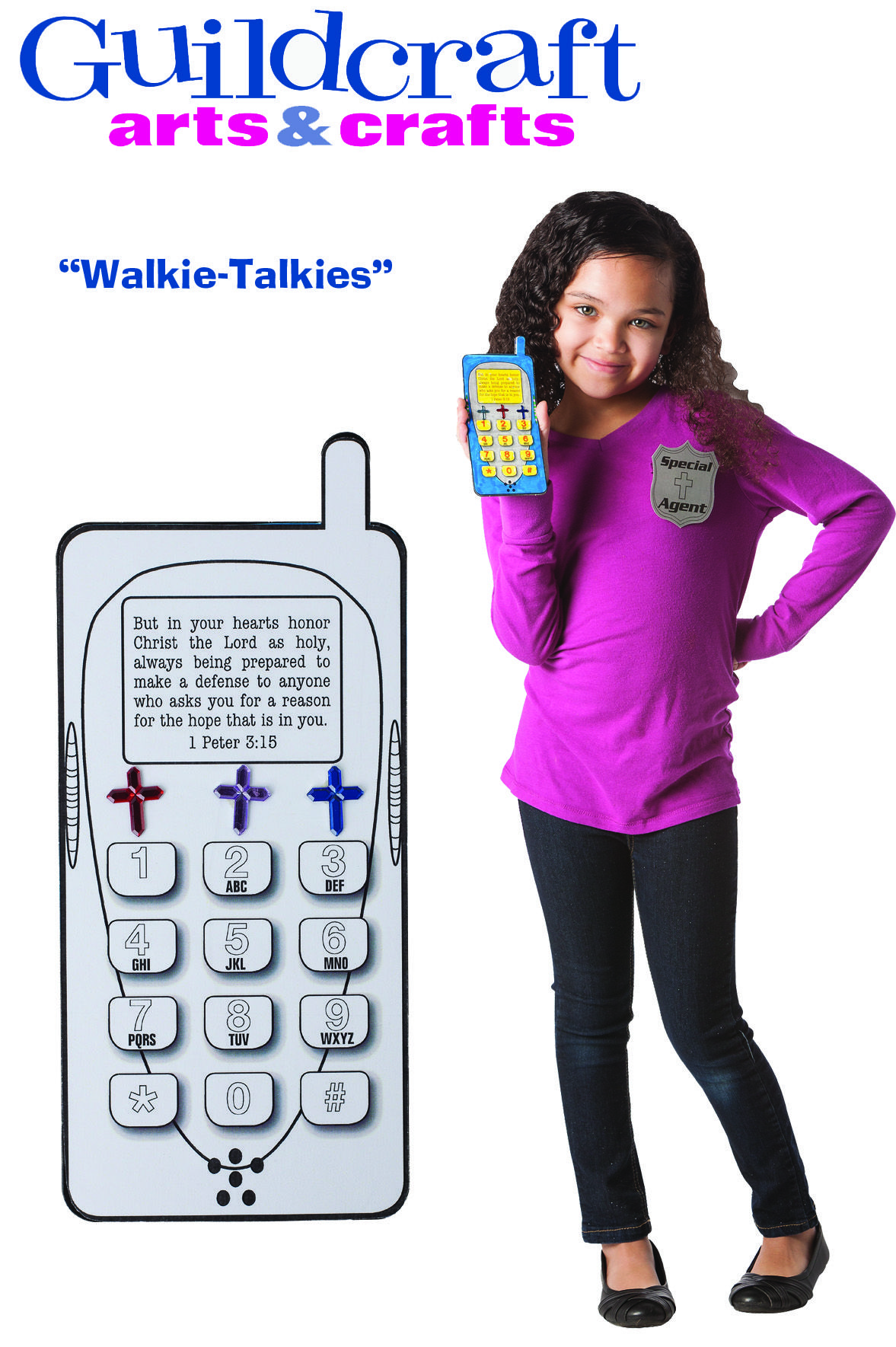 Walkie-Talkies from Guildcraft Arts & Crafts! Agents can use these