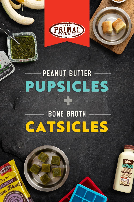 Peanut Butter Pupsicles + Bone Broth Catsicles Peanut