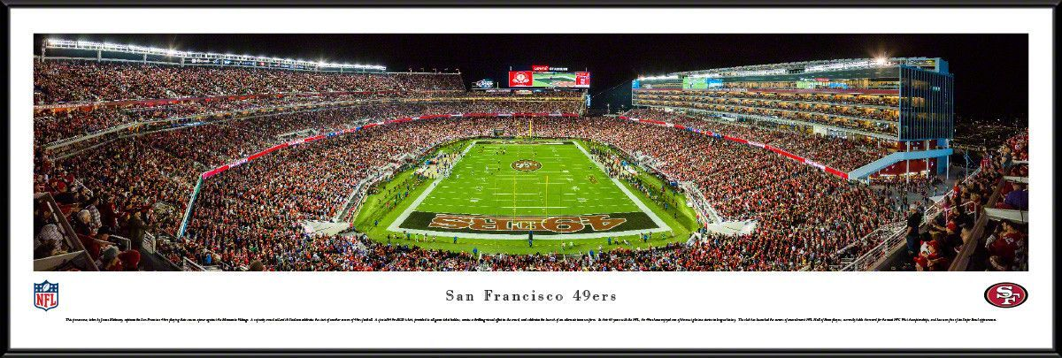 Levis Stadium Capacity >> San Francisco 49ers Panoramic Picture Framed Levi S Stadium