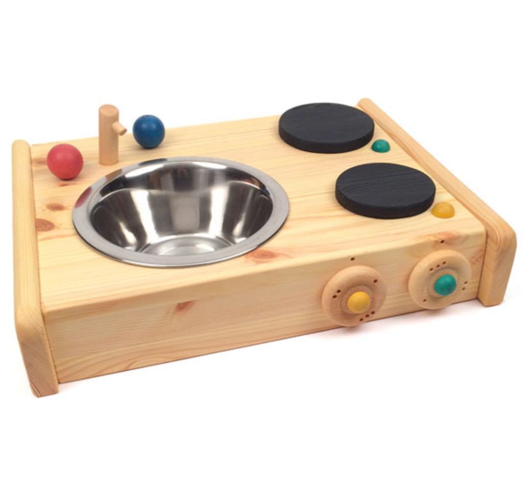 Tabletop Stove And Sink Wooden Kitchen Set Wooden Playset Diy Play Kitchen