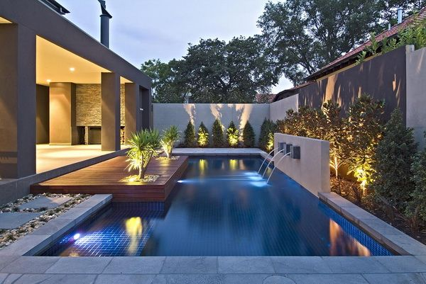 Contemporary Backyard With Asian Themes On Drake Street Melbourne By Cos Design Modern Landscape Design Outdoor Design Modern Landscaping