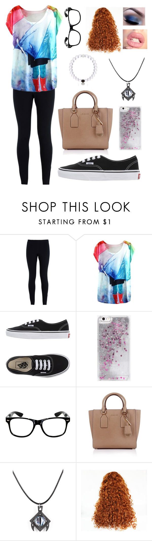 """""""Why fit in when you can stand out"""" by blessed-with-beauty-and-rage ❤ liked on Polyvore featuring NIKE, Vans, Skinnydip, Michael Kors and Everest"""