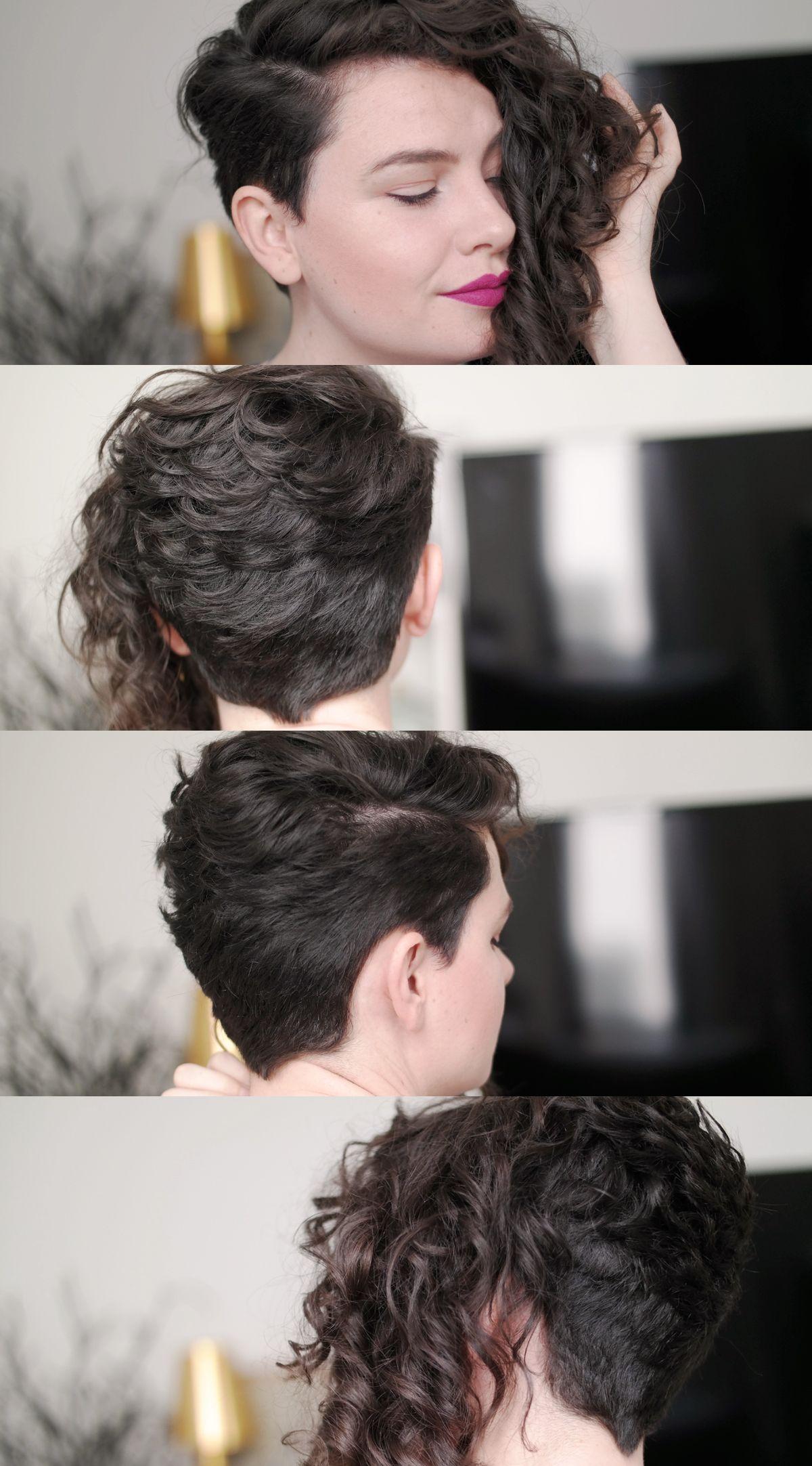 Um Cabelo Cacheado Curto Asymmetrical Hairstyles Pinterest