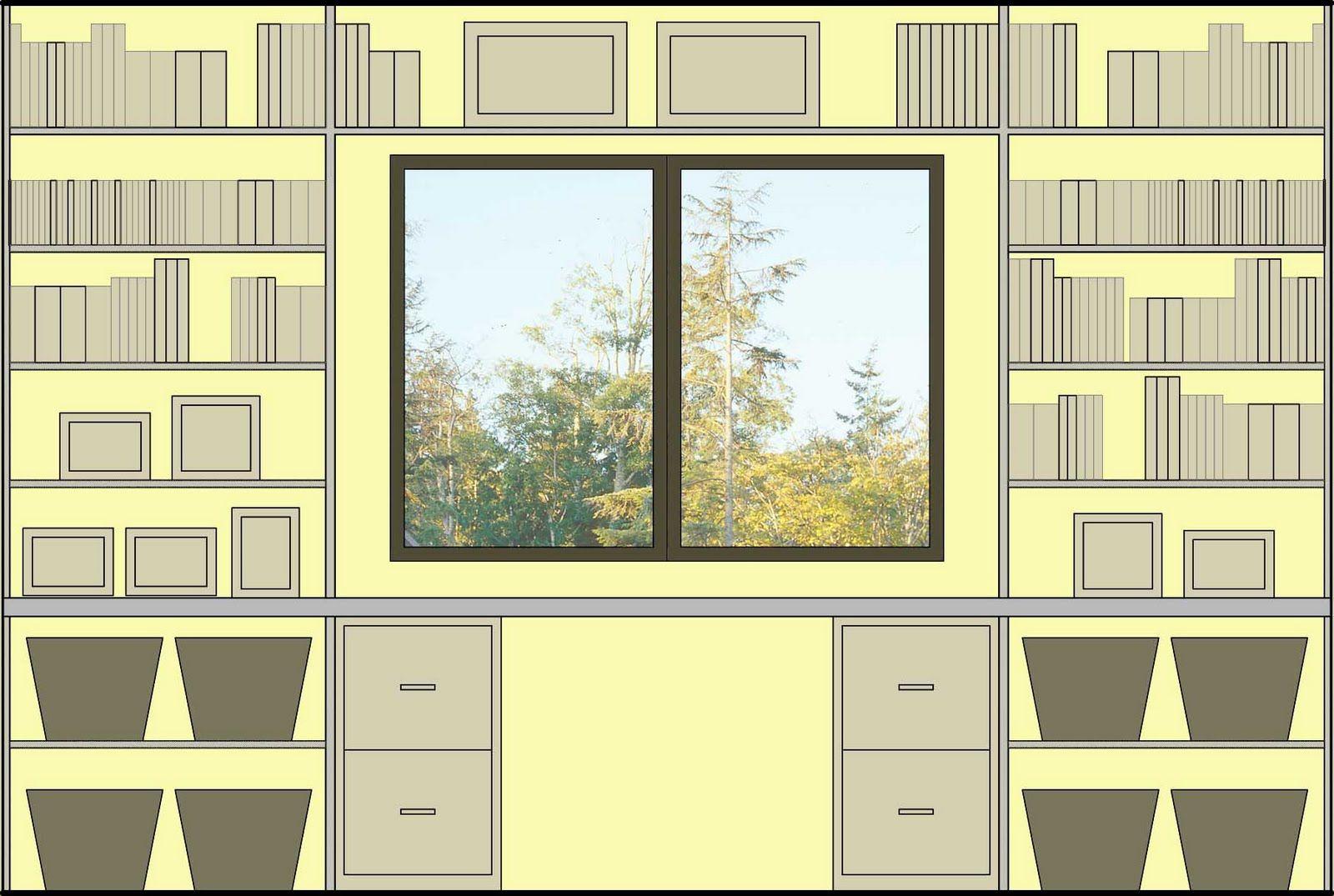 Eye-pleasing arrangement for large bookshelves or entertainment ...