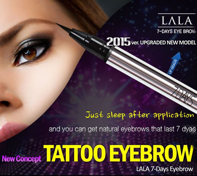 Lala 7days Tattoo Eyebrow Waterproof Safe Ingredients Blackbrown