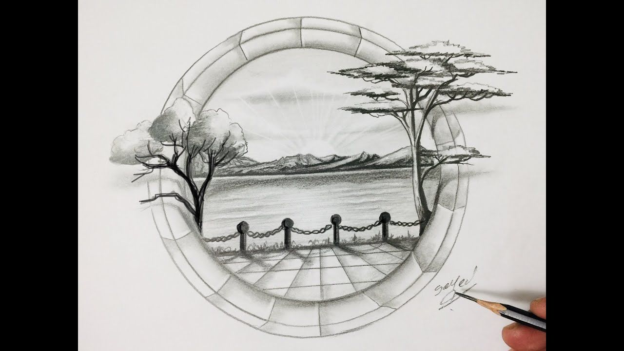 اليوم يافنانين سنتعلم معا كيفية رسم منظر طبيعي مقمر بالقلم الرصاص وبحر ونخيل وسماء وطيور خطوه بخطوه وبالتفصيل وسنتعلم طريقة رسم اشجار وبح Art Humanoid Sketch
