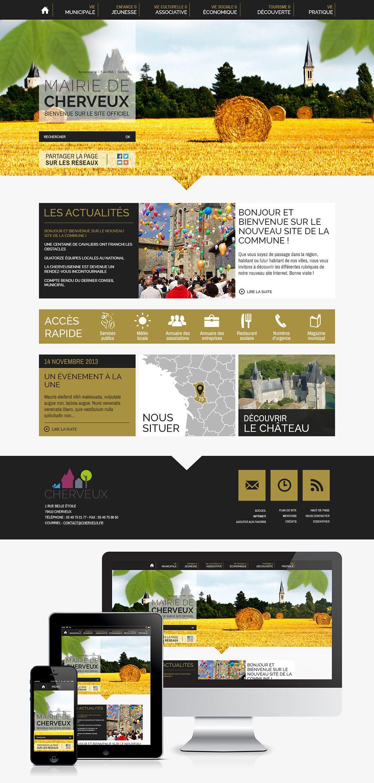 Webdesign Responsive Mairie Ville Colterr Le Nouveau Site Web De La Mairie De Cherveux 79 Http Cherveux Fr Web Design Mairie Creation De Site Web