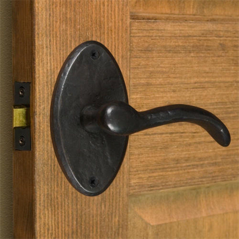 Stain Door Handle Lever Lock Set Entry Privacy Passage Dummy Door Lockset Knob