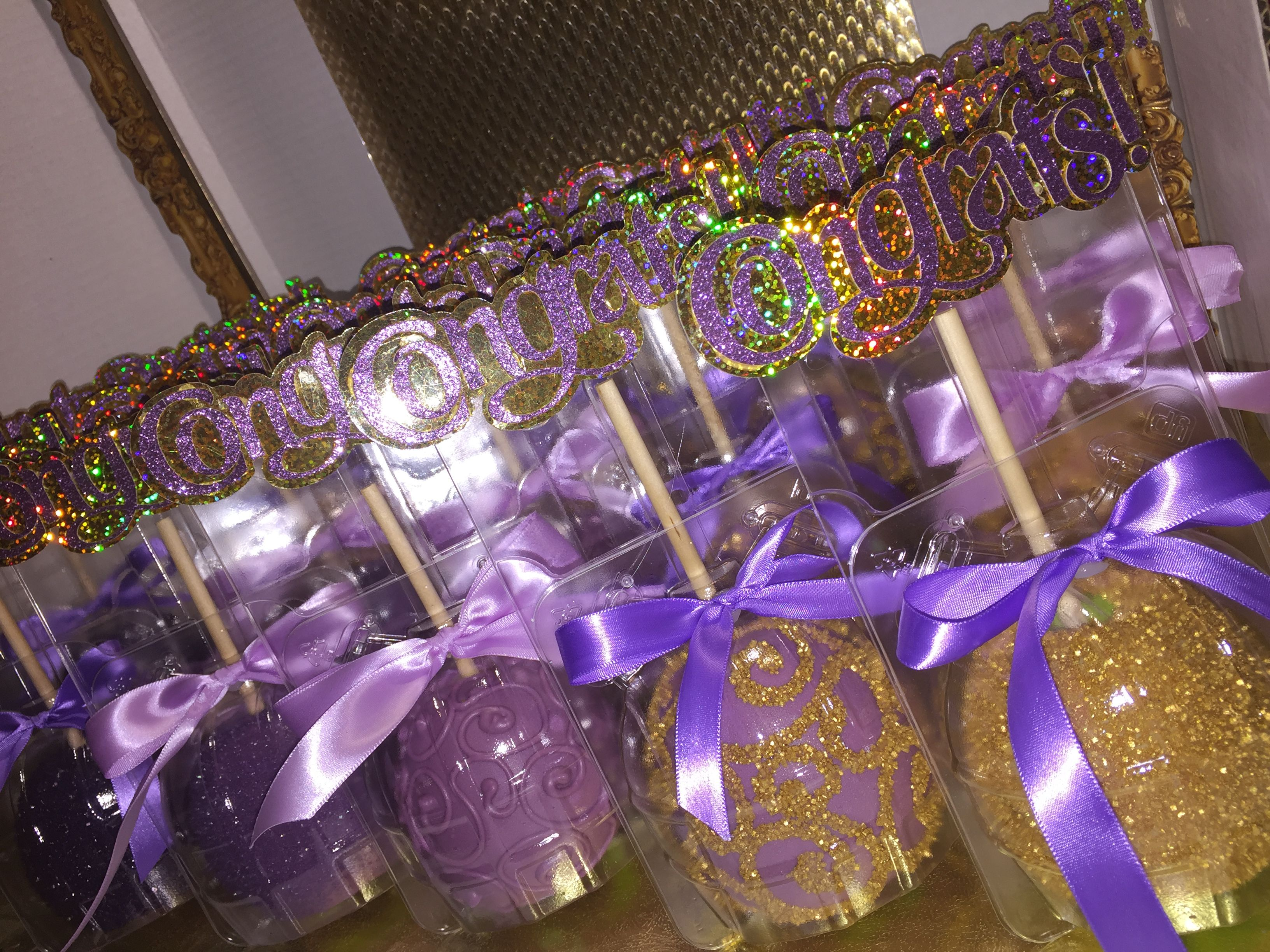Purple And Gold Chocolate Covered Apples I Made This In
