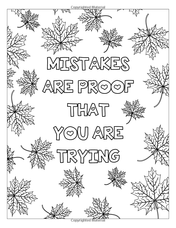 Inspiration Quotes Coloring Book: quotes coloring books for adults ...