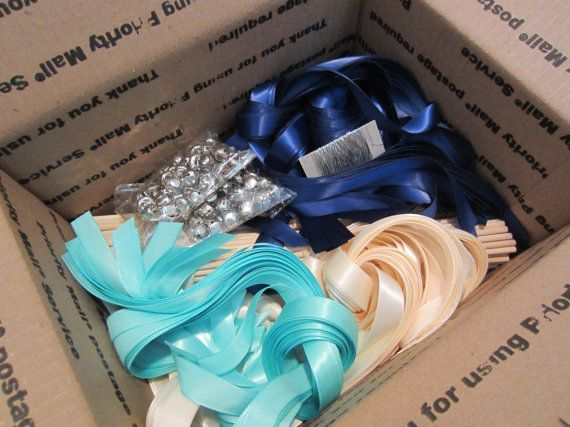 DIY Wedding Wand Ribbon Wands CUSTOM COLORS 200 With Bells And 3 Ribbons