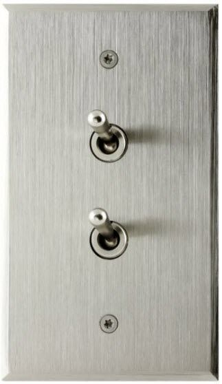 interrupteur levier finition m tal acier bross 70 120 2 boutons 6ixtes paris house. Black Bedroom Furniture Sets. Home Design Ideas