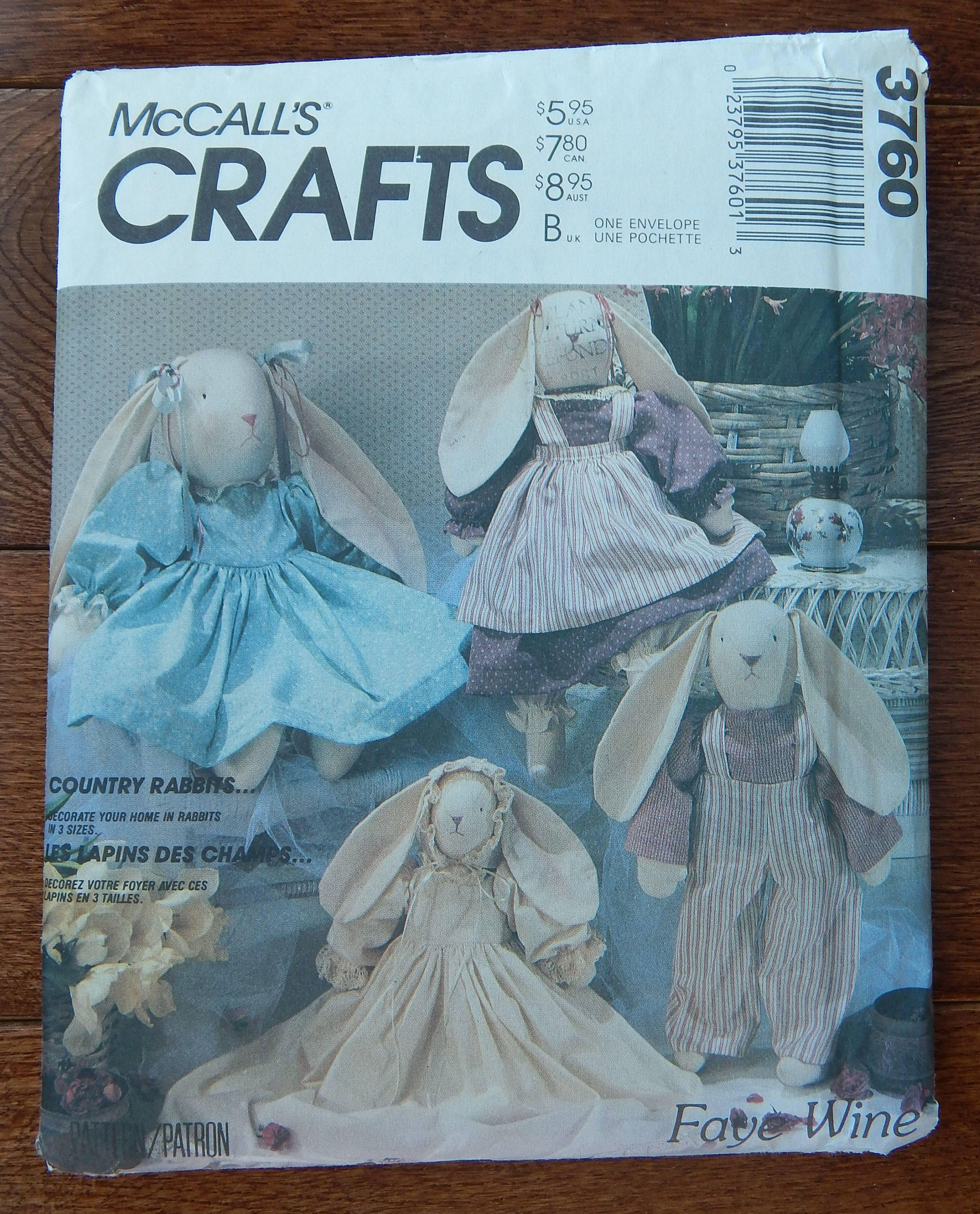 Country Rabbits And Clothes Sewing Pattern 3 Sizes Mccall S