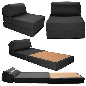 JAZZ CHAIR Single Bed Z Guest Fold Out Futon Sofa Chairbed Matress Foam  Gilda
