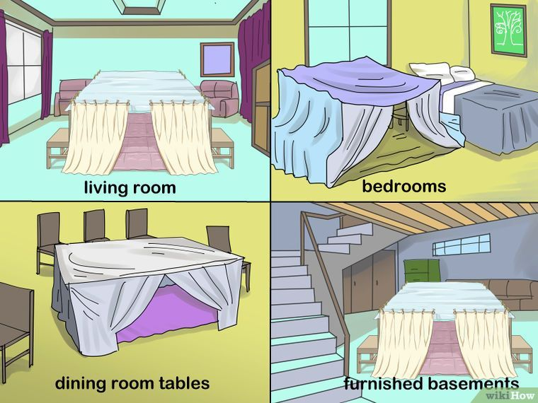 How To Make A Blanket Fort 12 Steps With Pictures Sleepover