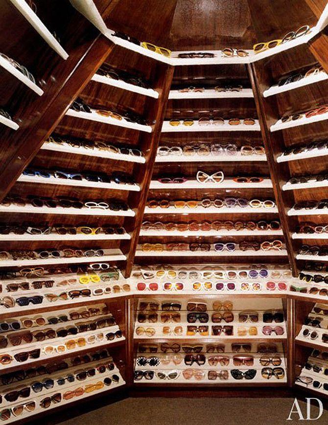 Gentil Inside Celebrity Closets   The Royal Few Elton Johnu0027s Sunglasses Closet U2026seriously.