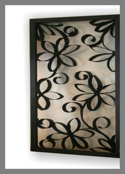 Cuadro rollos papel higi nico decoraci n pinterest craft - Rollos de papel higienico decorados ...
