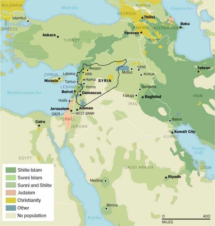 Religion in the middle east mind strange obsessions the religious lines dividing todays middle east 40 more maps that explain the world the washington post gumiabroncs Gallery
