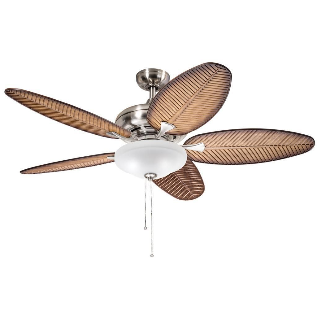 Havenside Home Chatham Casual Brushed Nickel 52 Inch Ceiling Fan