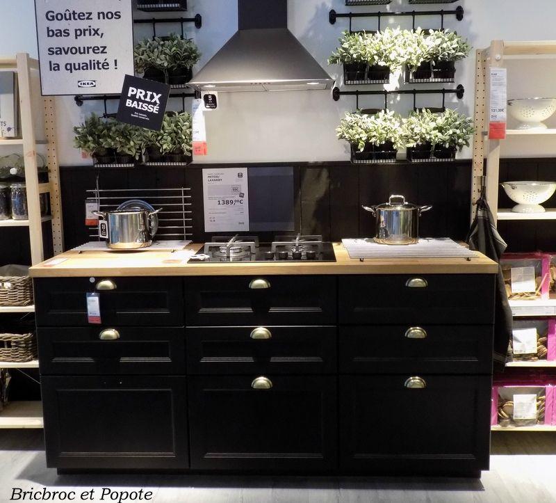 Cuisine noire Poignée coquille IKEA Déco Pinterest Bonjour