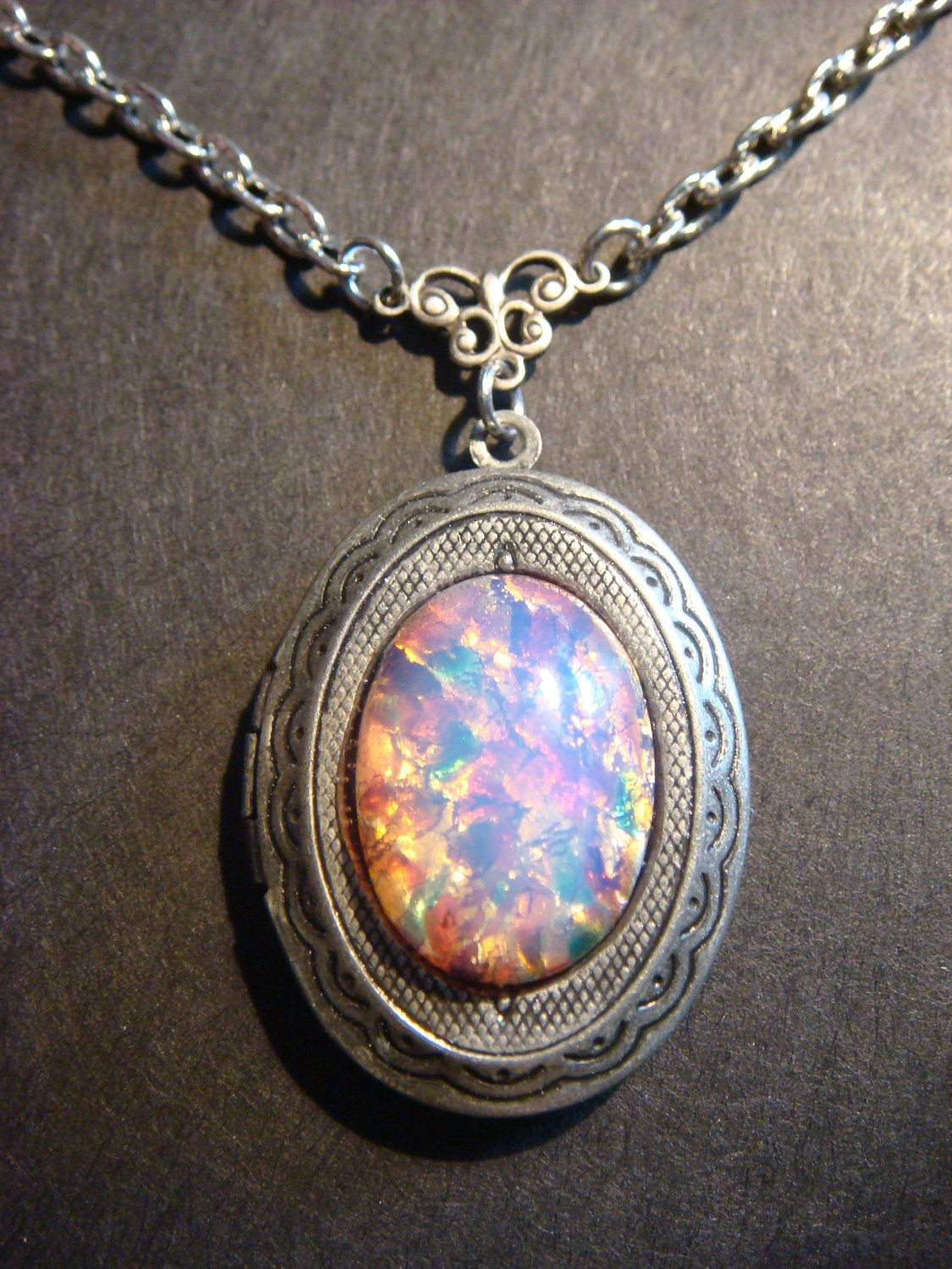 vintage locket grande caribbean collections lockets opal darlybird pendants