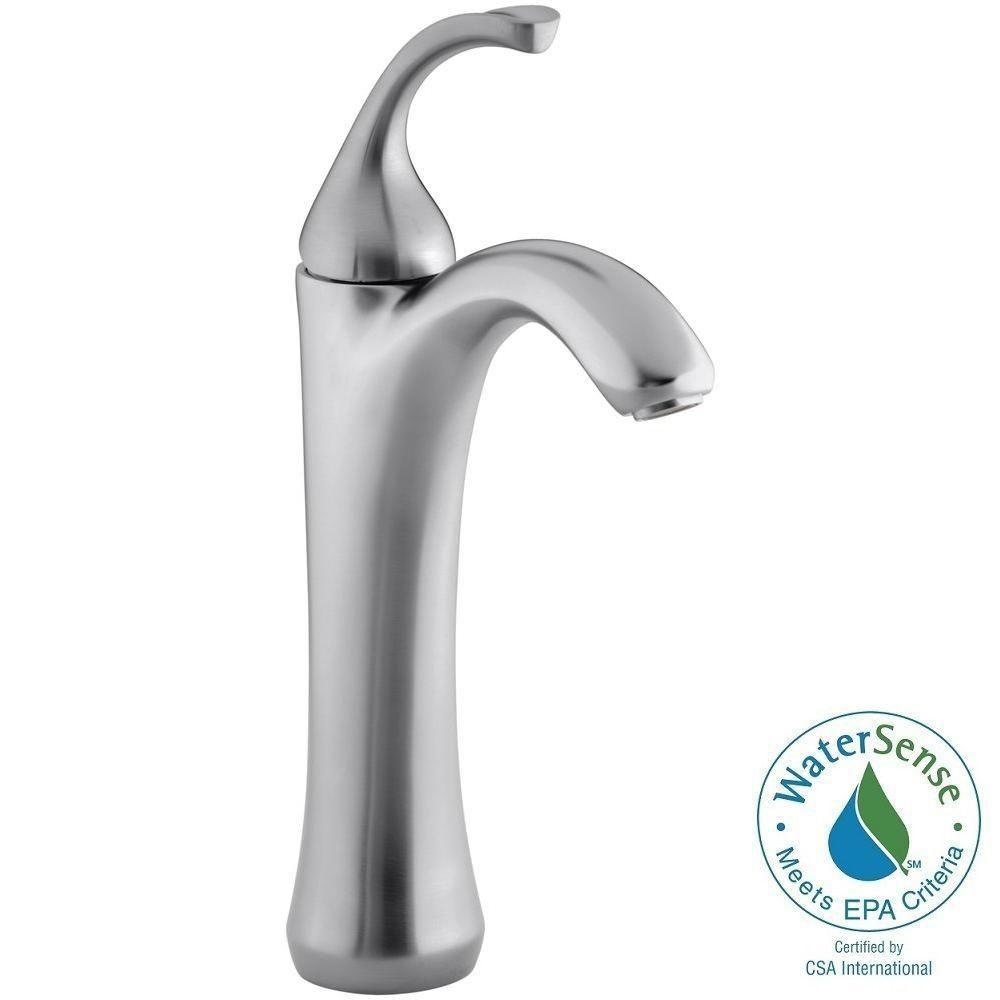 Kohler Forte Single Hole 1 Handle Mid Arc Bathroom Faucet In