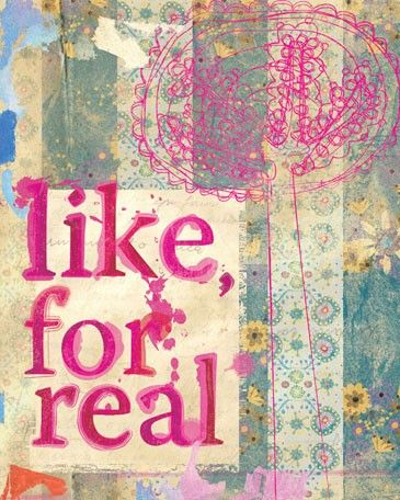 """New canvas wall art from Oopsy daisy, Fine Art for Kids: """"Like, For Real"""""""