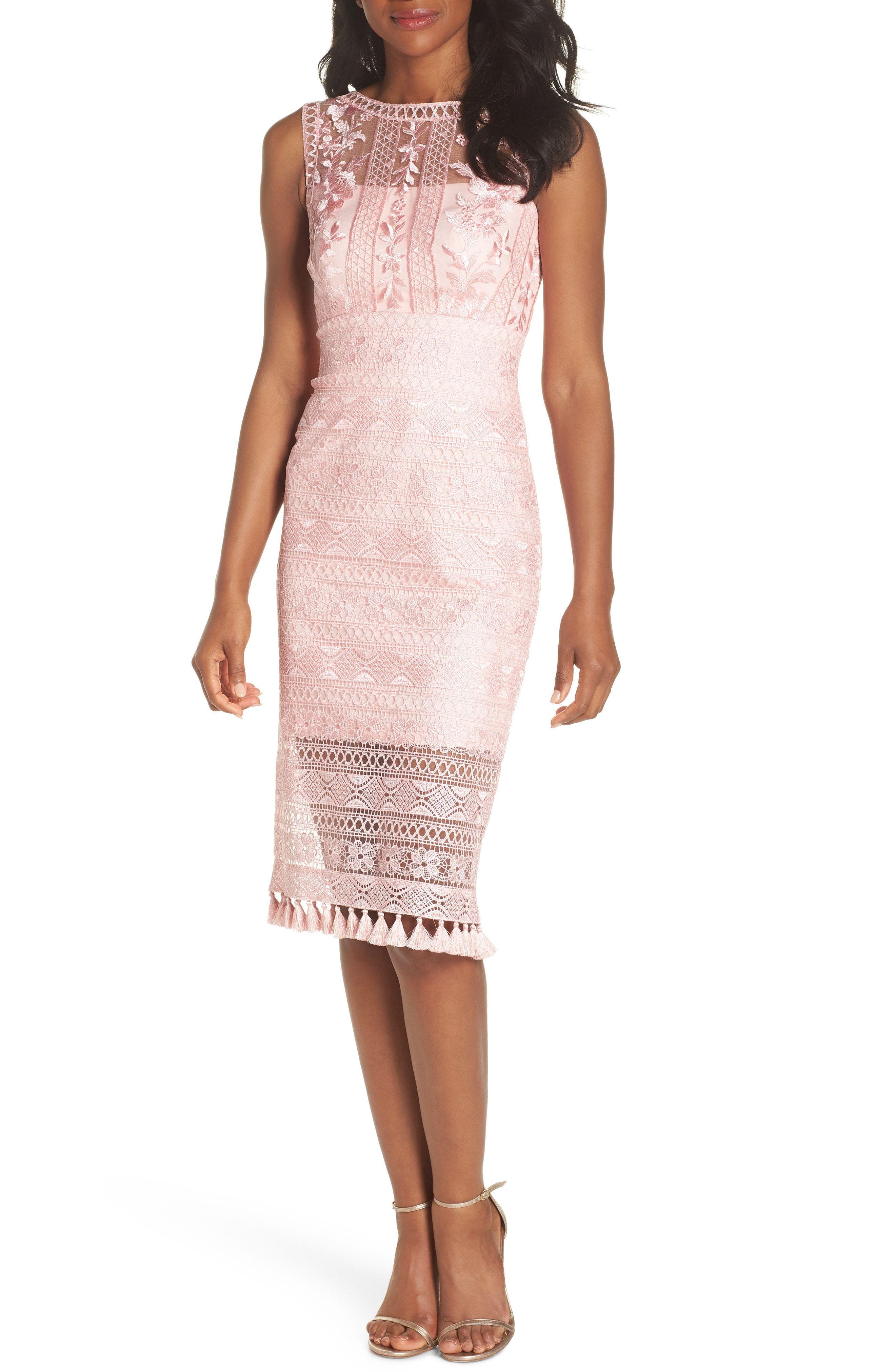 eb904a6410f Buy Tadashi Shoji Embroidered Lace Sheath Dress online. Sku  qkev95956pcqy53805