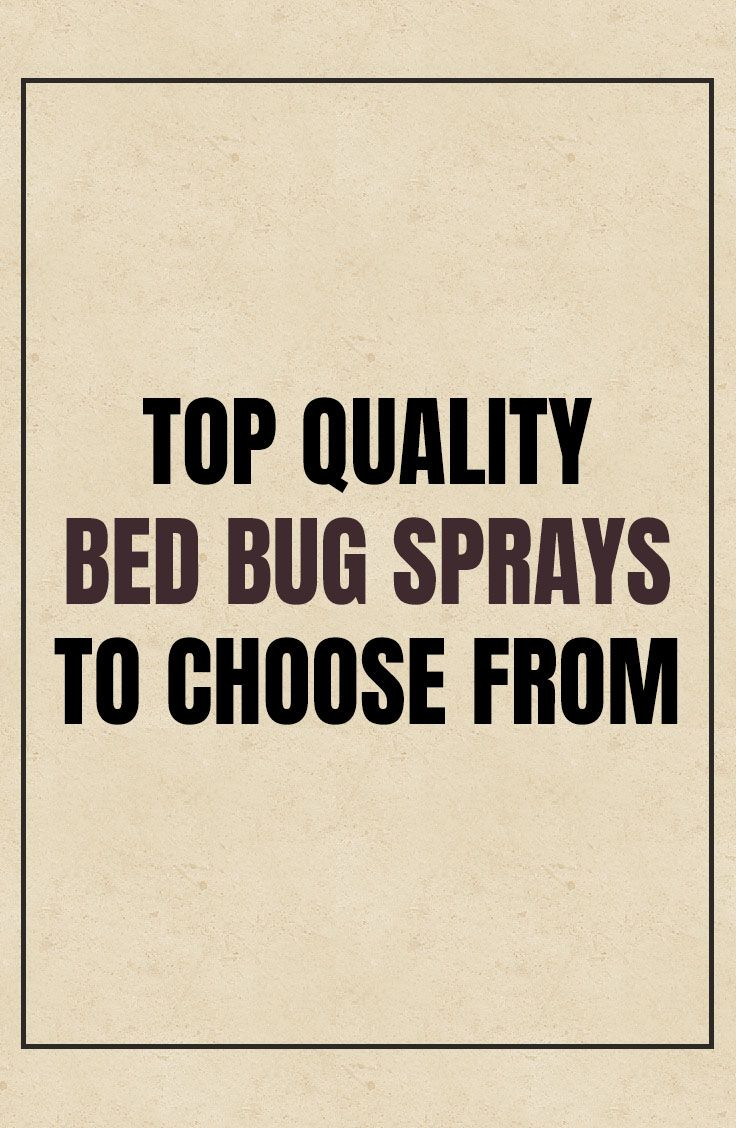 Best Bed Bug Spray Products Review Dear Adam Smith Bed