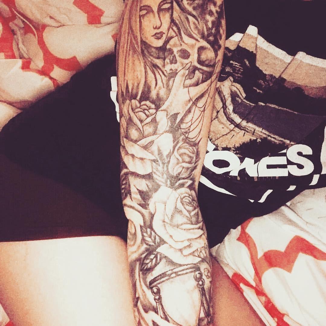 #sleeve #sleevetattoo #inked #inkedgirls #inkedgirl #tattoo #tattoos #chickswith ...