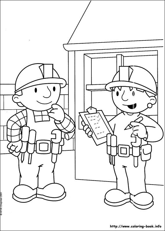 Bob the Builder coloring picture | Fun for Kids | Pinterest | Bob ...
