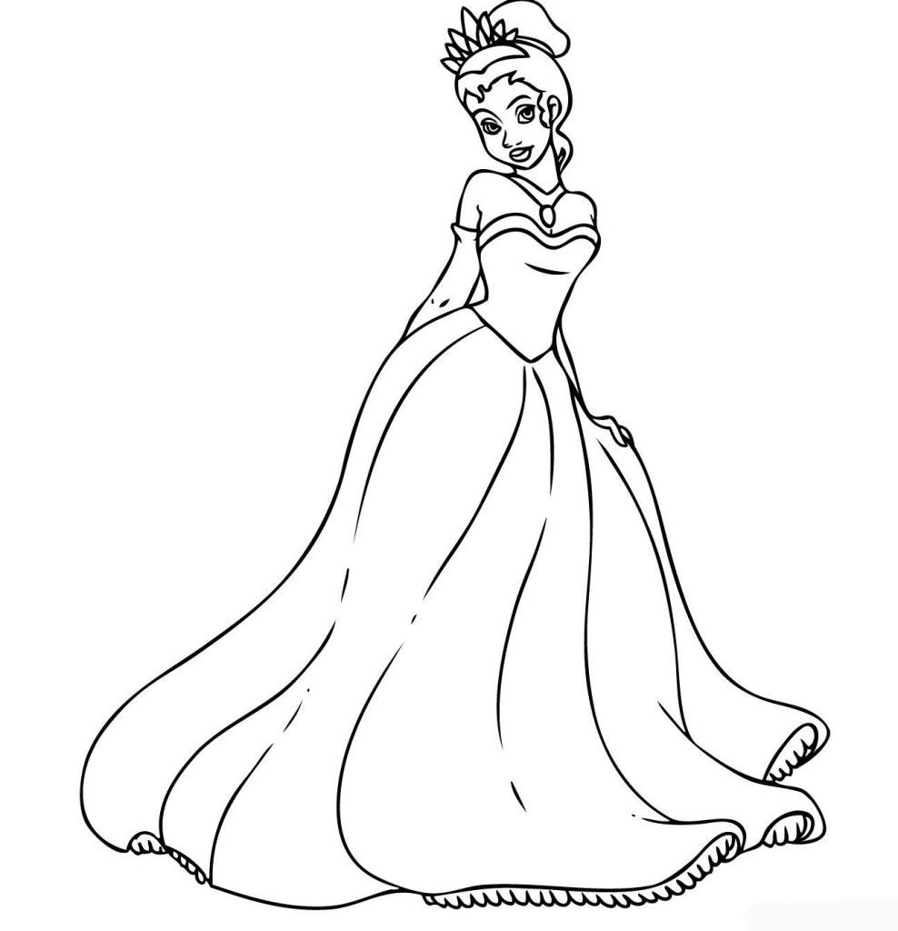 Disney coloring games for girls - Coloring Pages For Girls Disney Princess Tiana Coloring Pages For Girls Details