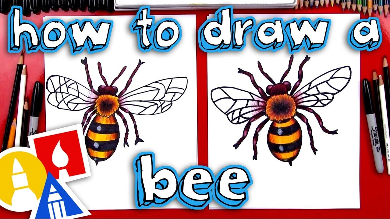 Realistic Artistic Bee Drawing